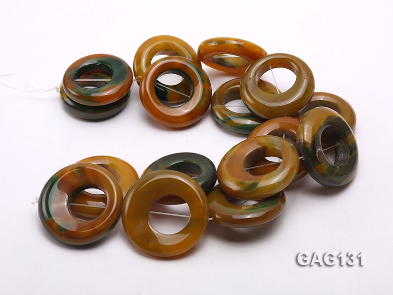 wholesale 45-50mm ring-shaped agate loose strings big Image 3