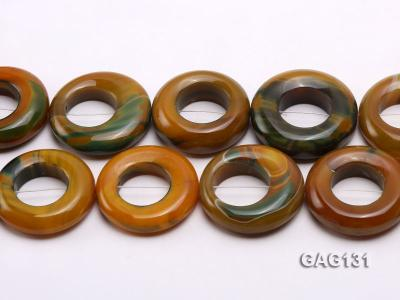 wholesale 45-50mm ring-shaped agate loose strings GAG131 Image 2