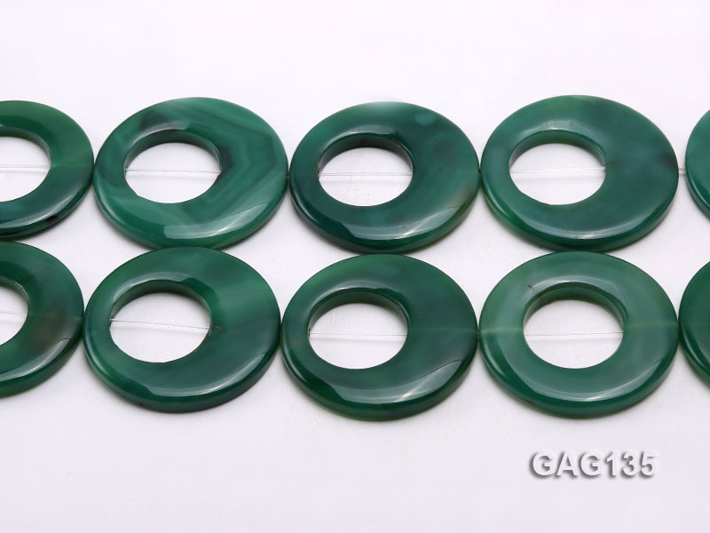 wholesale 45-58mm green ring-shaped agate loose strings big Image 2