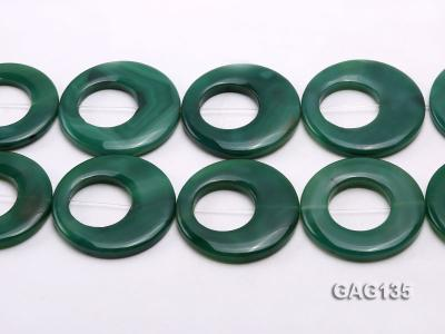 wholesale 45-58mm green ring-shaped agate loose strings GAG135 Image 2