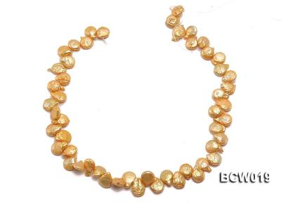 Wholesale 11x15mm Golden Irregular Cultured Freshwater Pearl String BCW019 Image 3