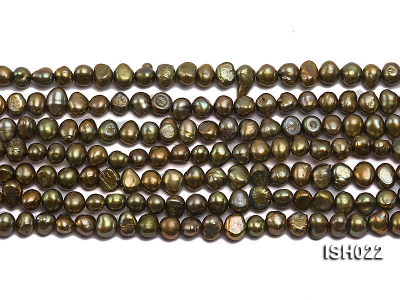 Wholesale 4x7mm Olive Side-drilled Cultured Freshwater Pearl String big Image 2