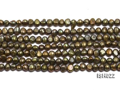 Wholesale 4x7mm Olive Side-drilled Cultured Freshwater Pearl String ISH022 Image 2
