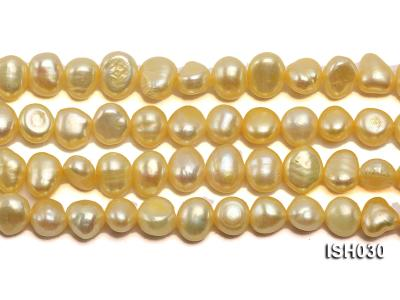 Wholesale 6x8mm Yellow Flat  Freshwater Pearl String ISH030 Image 2