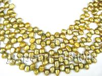 wholesale 7x9mm Side-holed olive Pearl strings  ISH034