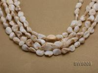 Wholesale 11x14mm White Irregular Seashell String SWS005