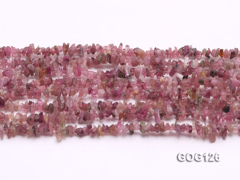Wholesale 3-5mm Colorful Tourmaline Gravel String big Image 2