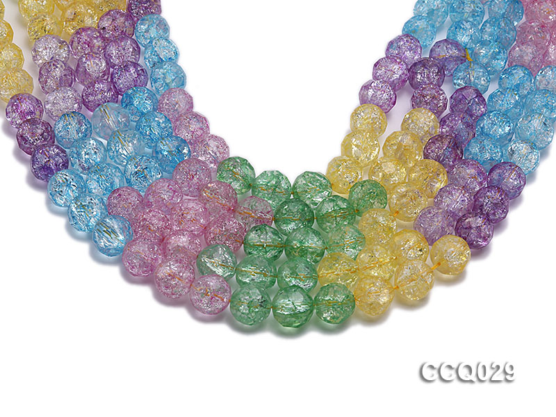 Wholesale 12mm Round Multi-color Simulated Crystal Beads String big Image 1