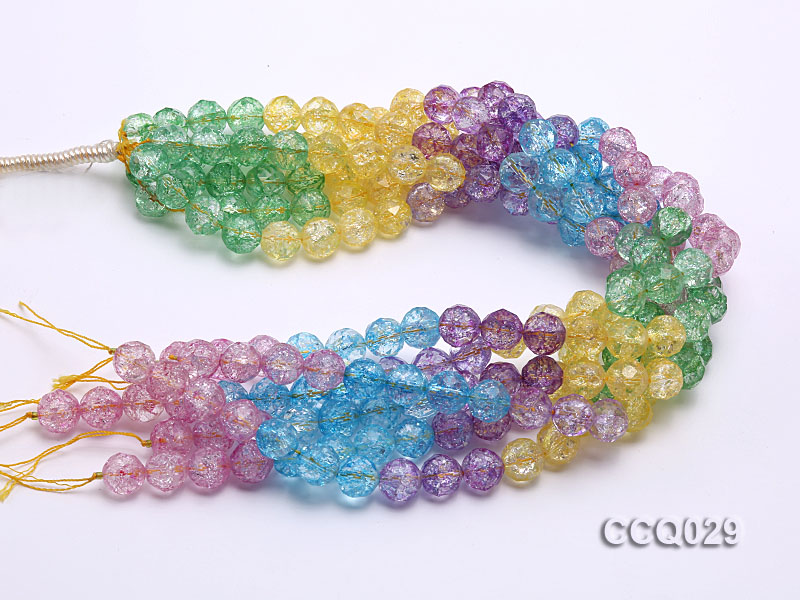 Wholesale 12mm Round Multi-color Simulated Crystal Beads String big Image 2