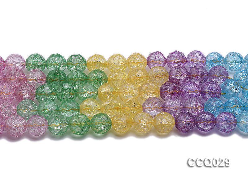 Wholesale 12mm Round Multi-color Simulated Crystal Beads String big Image 3