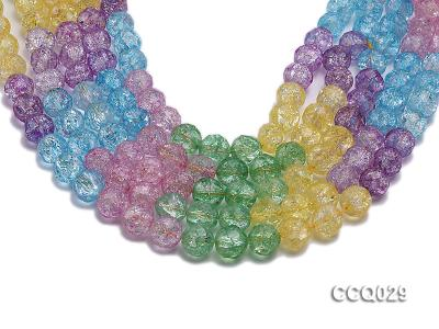 Wholesale 12mm Round Multi-color Simulated Crystal Beads String CCQ029 Image 1