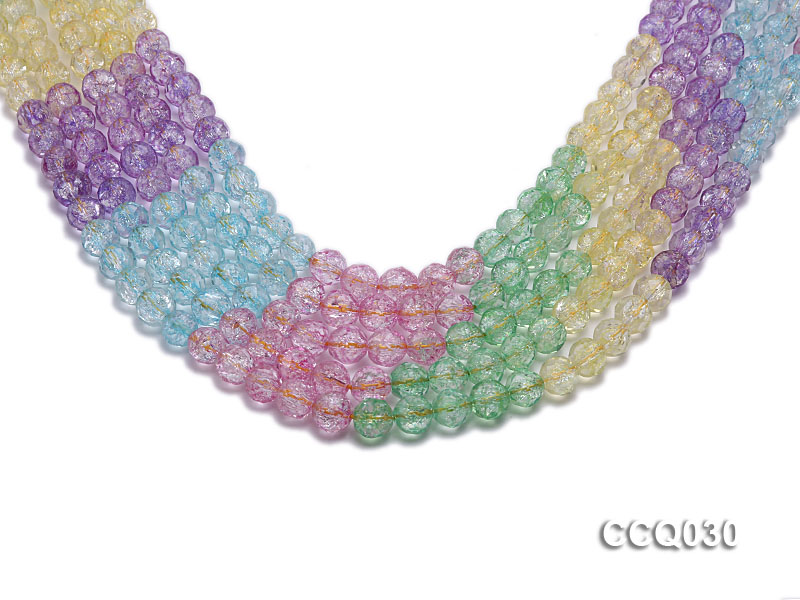 Wholesale 8mm Round Multi-color Simulated Crystal Beads String big Image 1