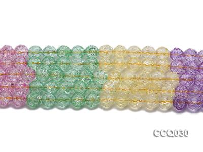 Wholesale 8mm Round Multi-color Simulated Crystal Beads String CCQ030 Image 2