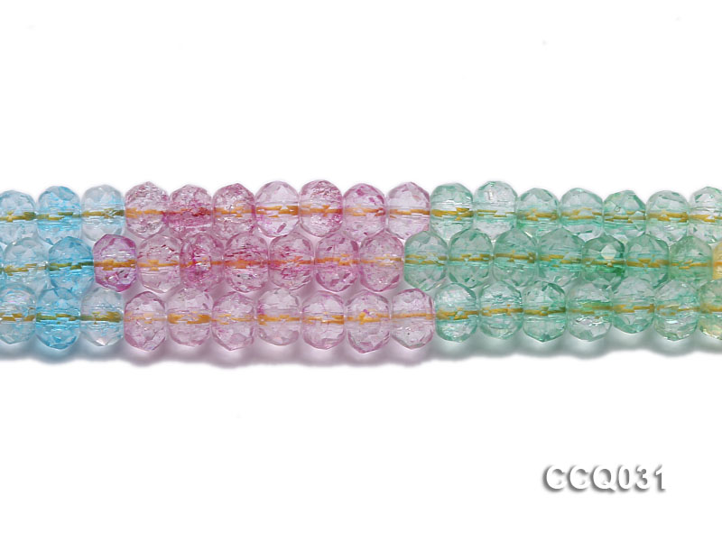 Wholesale 6x8mm Oval Multi-color Faceted Simulated Crystal Beads String big Image 2