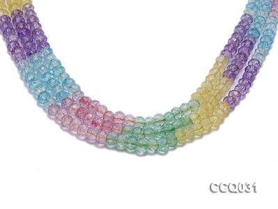 Wholesale 6x8mm Oval Multi-color Faceted Simulated Crystal Beads String CCQ031 Image 1
