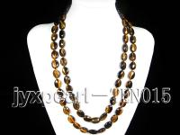 15.5x11.5mm oval natural tiger-eye necklace TEN015