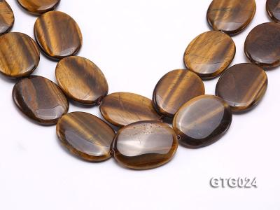 Wholesale 30x40mm Oval Tigereye Pieces Strings GTG024 Image 1