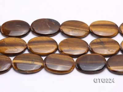 Wholesale 30x40mm Oval Tigereye Pieces Strings GTG024 Image 2