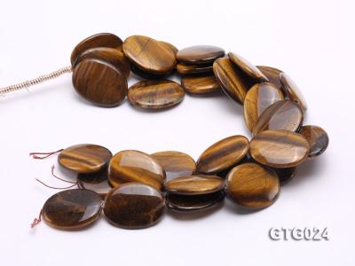Wholesale 30x40mm Oval Tigereye Pieces Strings GTG024 Image 3