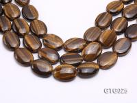 wholesale 24x30mm Oval Tigereye Pieces Strings GTG025