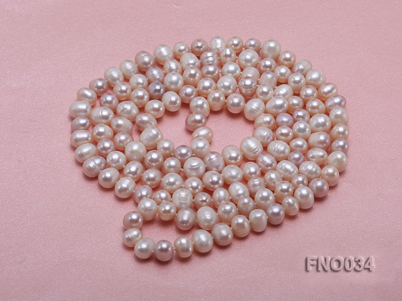 8-9mm colorful round freshwater pearl necklace big Image 3