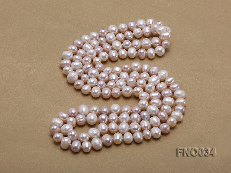 8-9mm colorful round freshwater pearl necklace big Image 4