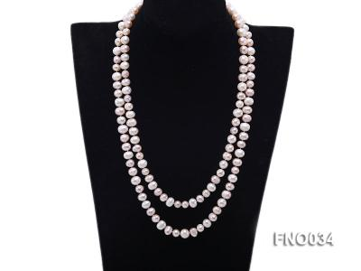 8-9mm colorful round freshwater pearl necklace FNO034 Image 1