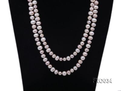 8-9mm colorful round freshwater pearl necklace FNO034 Image 2