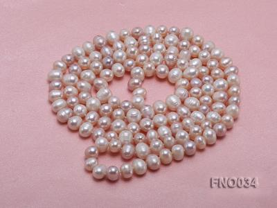 8-9mm colorful round freshwater pearl necklace FNO034 Image 3