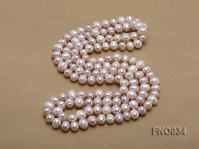 8-9mm colorful round freshwater pearl necklace FNO034 Image 4