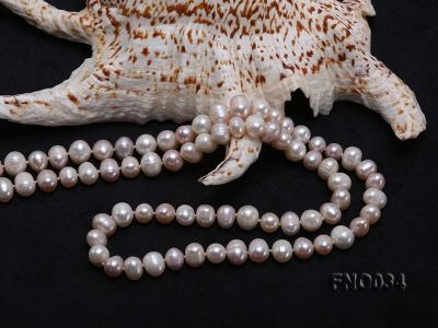 8-9mm colorful round freshwater pearl necklace FNO034 Image 5