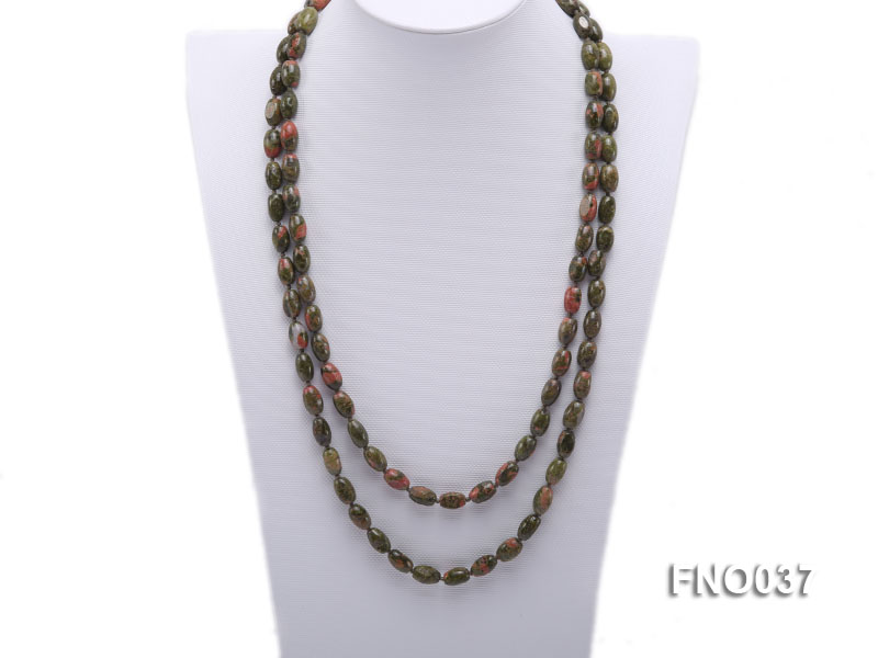 8x12mm colorful drum-shaped stone necklace big Image 1