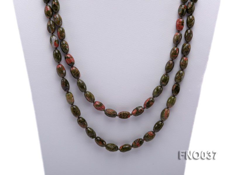 8x12mm colorful drum-shaped stone necklace big Image 2