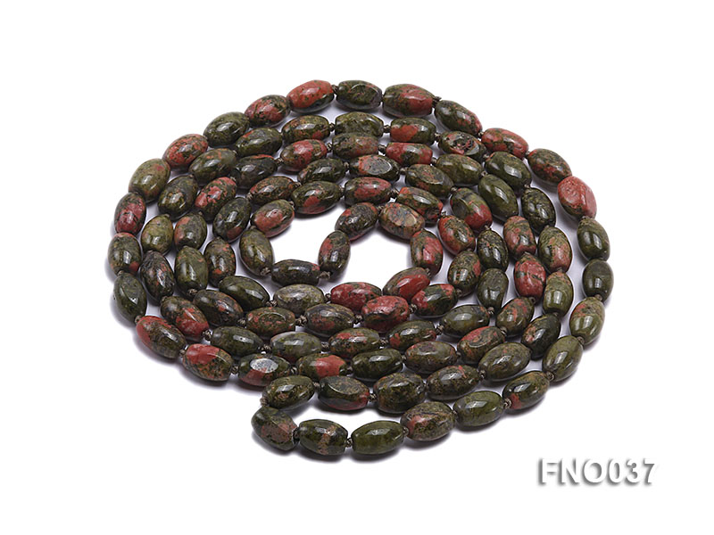 8x12mm colorful drum-shaped stone necklace big Image 3