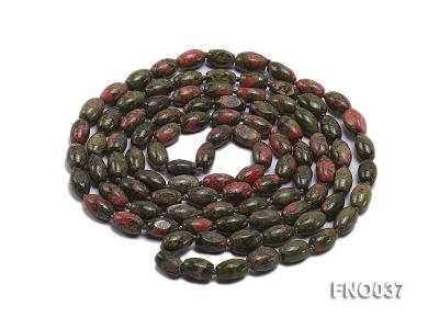 8x12mm colorful drum-shaped stone necklace FNO037 Image 3
