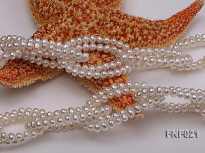 4-5mm Freshwater Pearl and Crystal Beads Necklace FNF021 Image 5