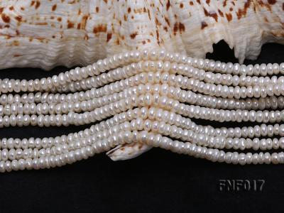 Multi-strand 4-5mm White Freshwater Pearl and Garnet Beads Necklace FNF017 Image 4