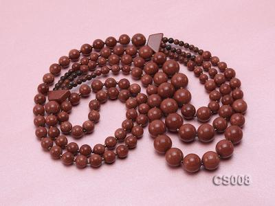 Round Goldstone Beads Necklace GS008 Image 1