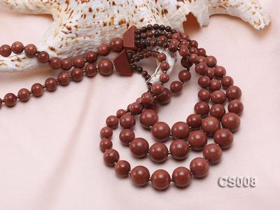Round Goldstone Beads Necklace GS008 Image 2