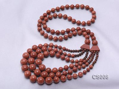 Round Goldstone Beads Necklace GS008 Image 3
