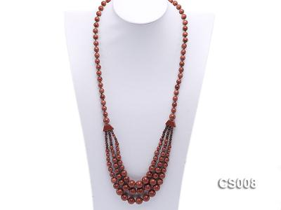 Round Goldstone Beads Necklace GS008 Image 4