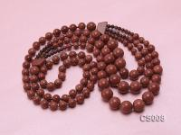 Round Goldstone Beads Necklace GS008