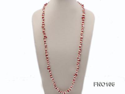 7-8mm yellow freshwater pearl and white and red crystal necklace FNO106 Image 3