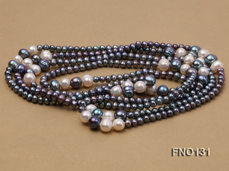 5-6mm multi-color round freshwater pearl necklace big Image 4