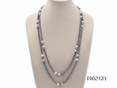 5-6mm multi-color round freshwater pearl necklace FNO131 Image 1