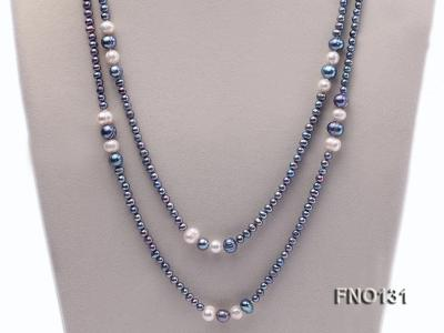 5-6mm multi-color round freshwater pearl necklace FNO131 Image 2