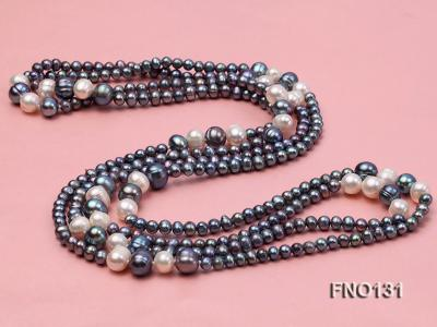 5-6mm multi-color round freshwater pearl necklace FNO131 Image 3