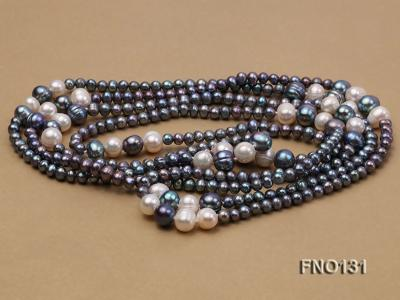 5-6mm multi-color round freshwater pearl necklace FNO131 Image 4