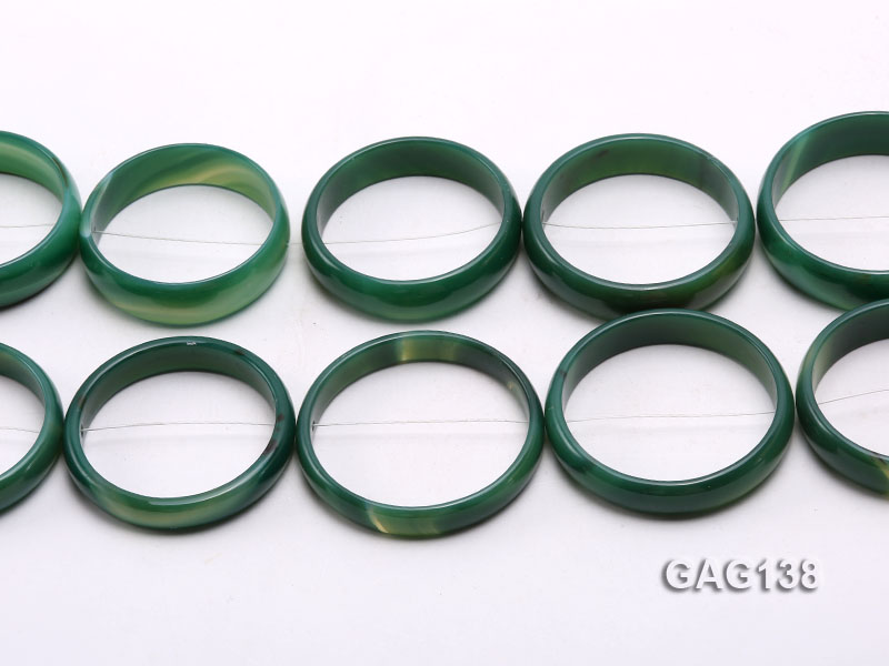 wholesale 50mm green ring-shaped agate loose strings big Image 2