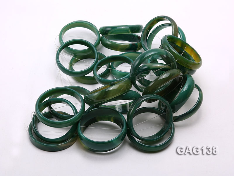 wholesale 50mm green ring-shaped agate loose strings big Image 3